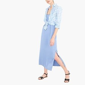 JCrew Mid-Length Slip Dress Size XS Light Blue